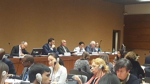 السيد الممثل الدائم  يترأس  مشاورات غير رسمية بشأن تخفيض عدد اجتماعات مجلس حقوق الانسان