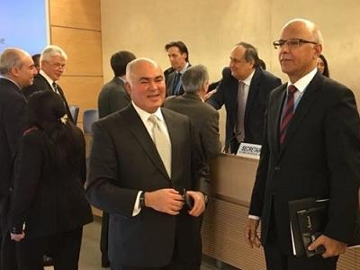 السيد الممثل الدائم يشارك في وقائع انتخابات رئيس ونواب الرئيس لمجلس حقوق الانسان لدورته لـ (12) للعام 2018